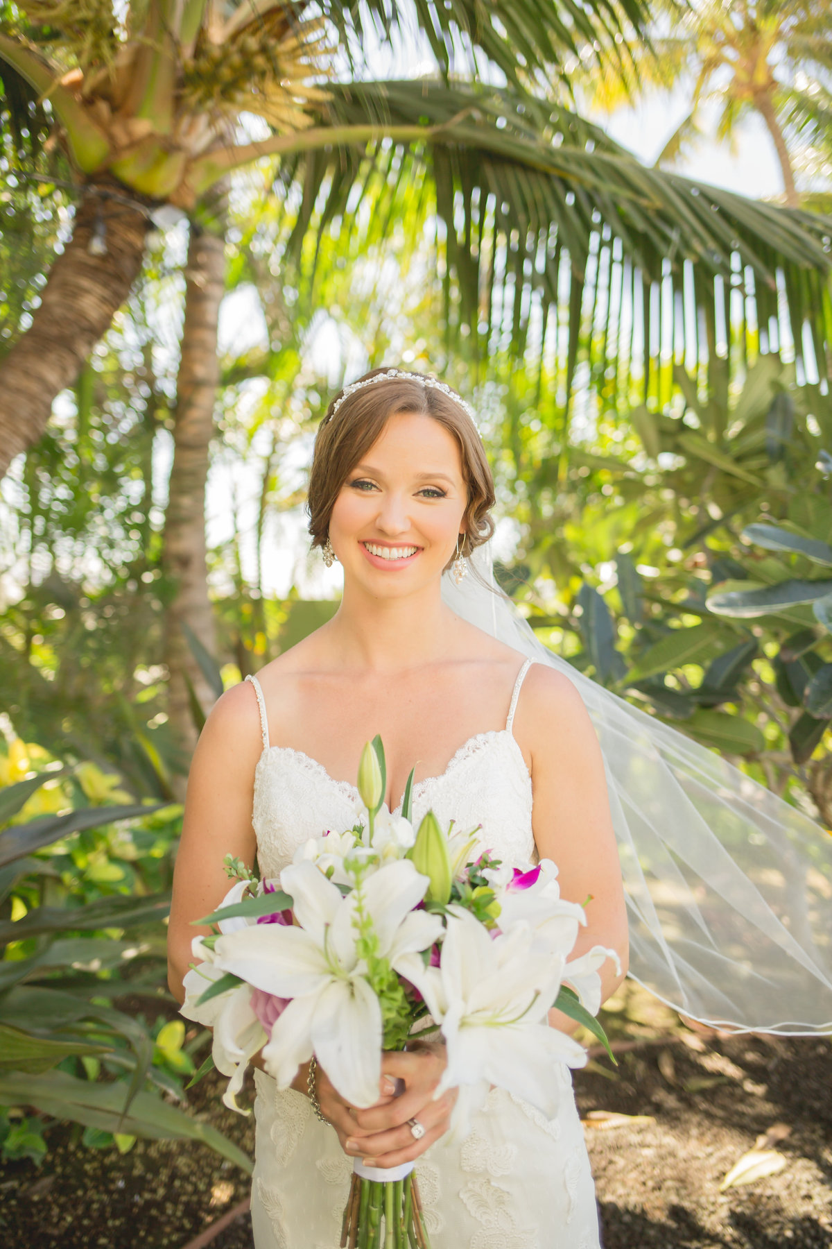 Maui wedding photo of bride