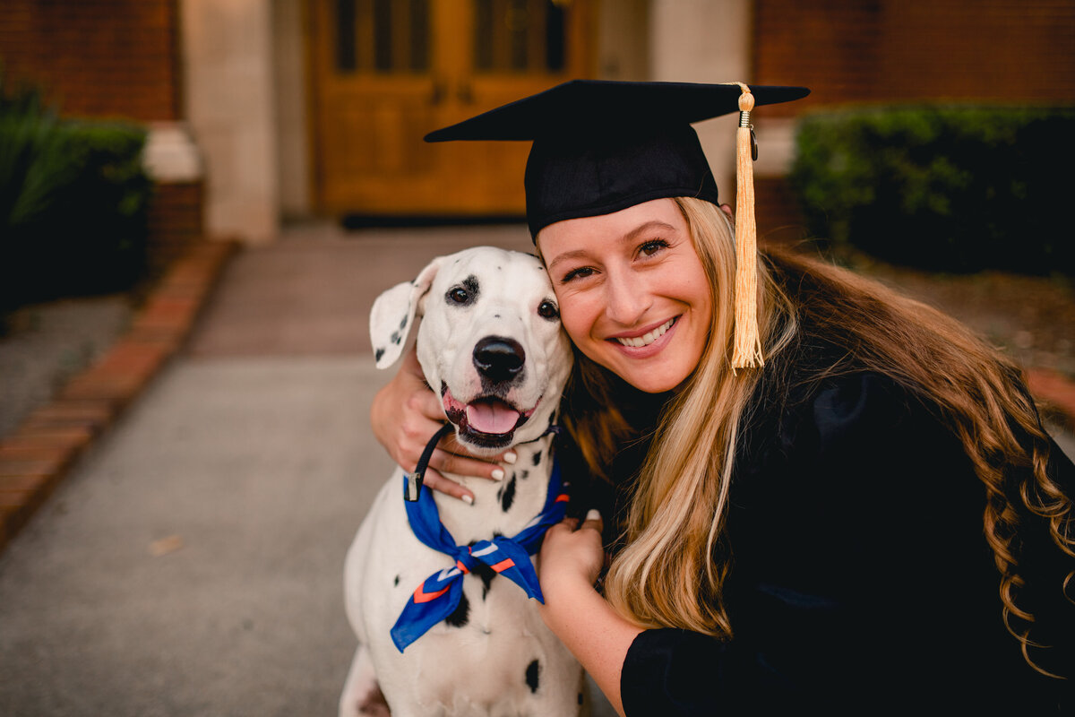 University of Florida photo ideas with cap and gown and dog