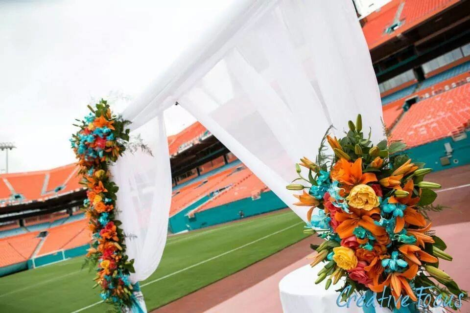 Dolphin Stadium Wedding