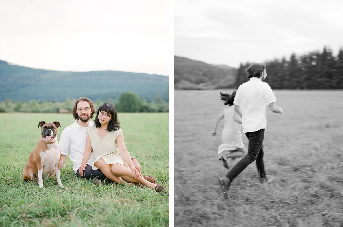 North Bend Engagement - Mountain View Engagement - Film Photography - Seattle Engagement Photographer - 1