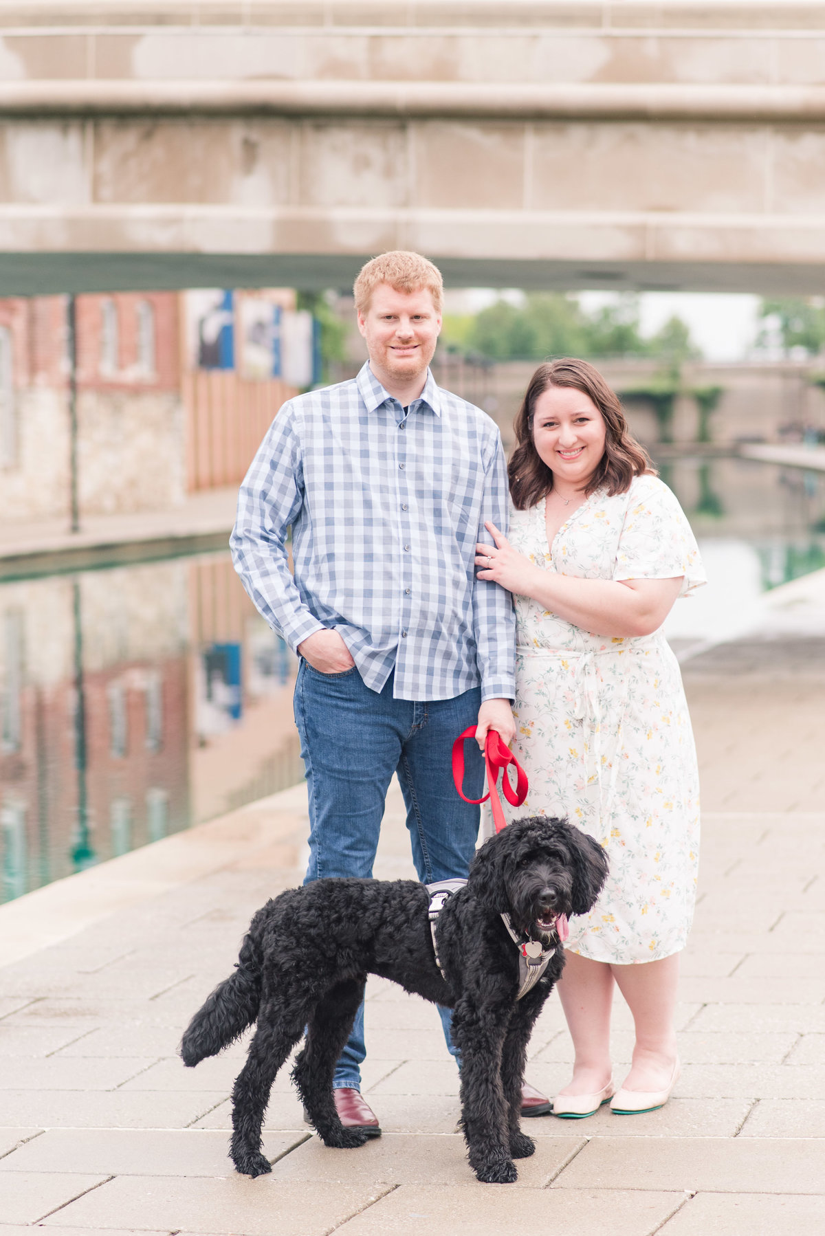 Cait Potter Creative LLC Canal Indianapolis White River State Park Spring Engagement Photos-3