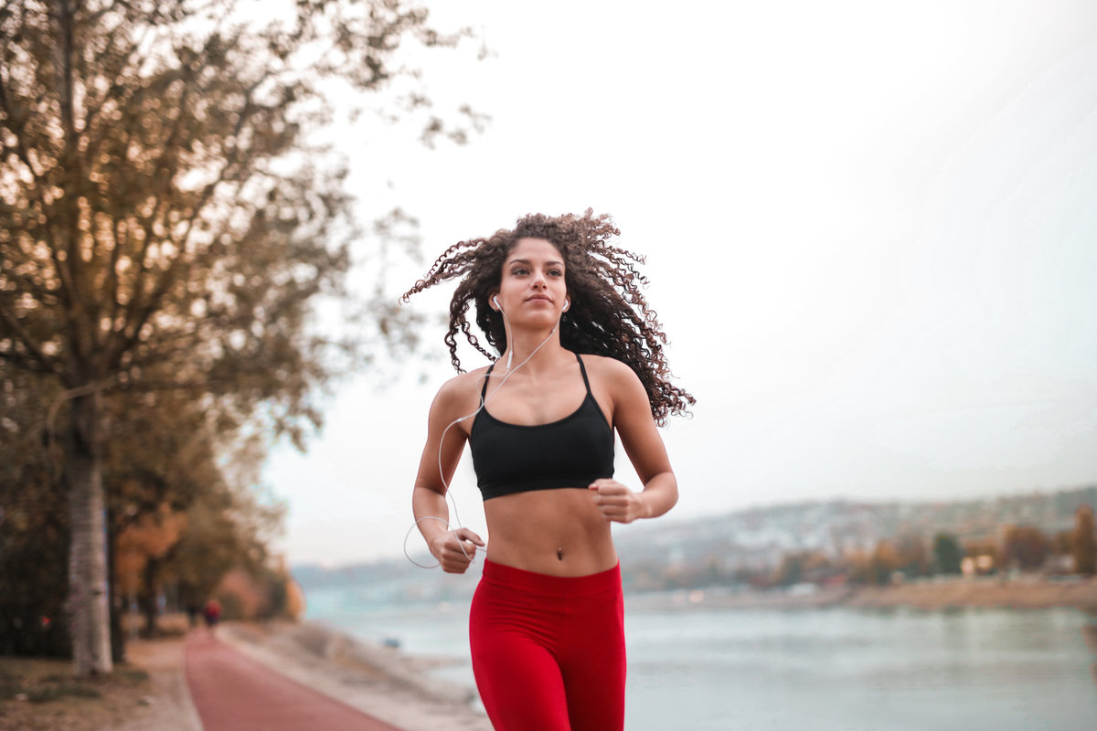 Canva - Woman in Black Sports Bra Running