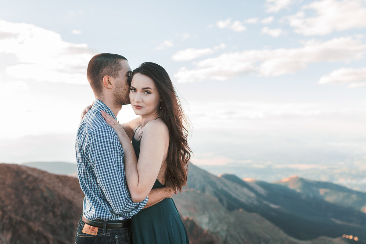 Pikes Peak Engagement Colorado Mountain Wedding Photographer | Monica Evans Photography