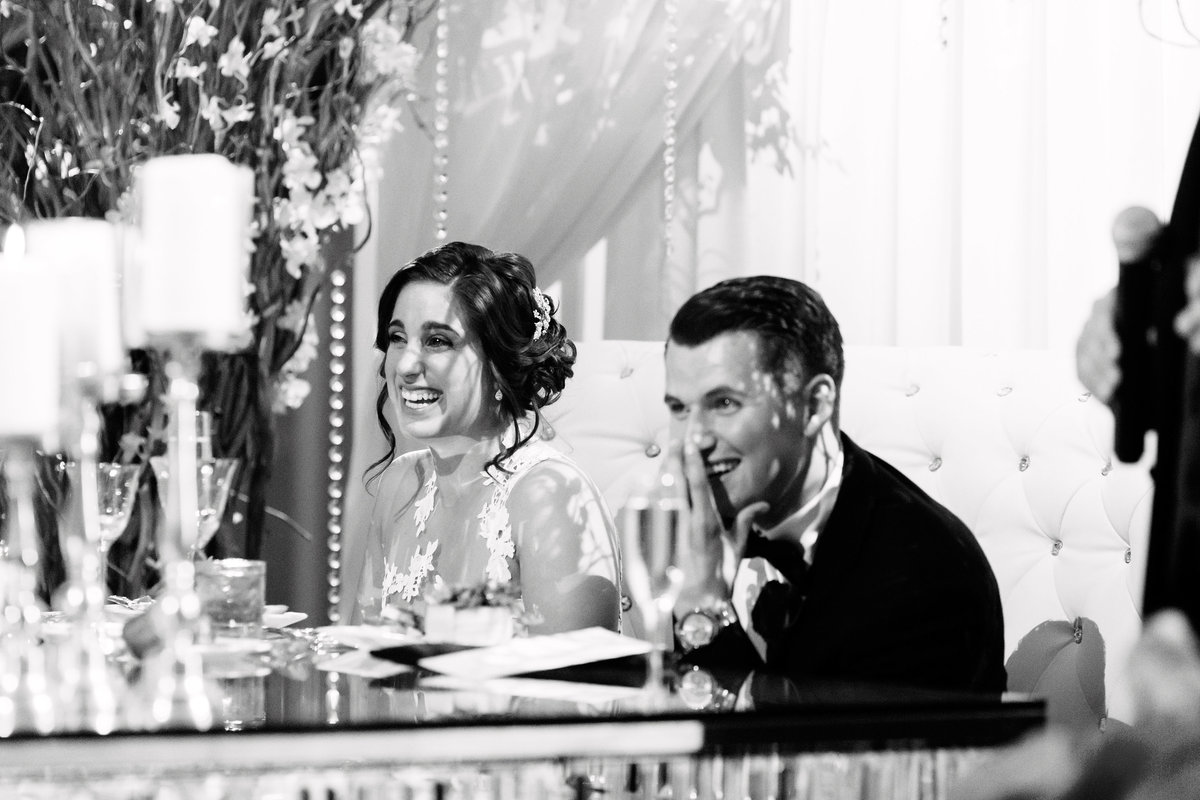 Venetian NJ winter wedding MLB Joe Panik black and white 25