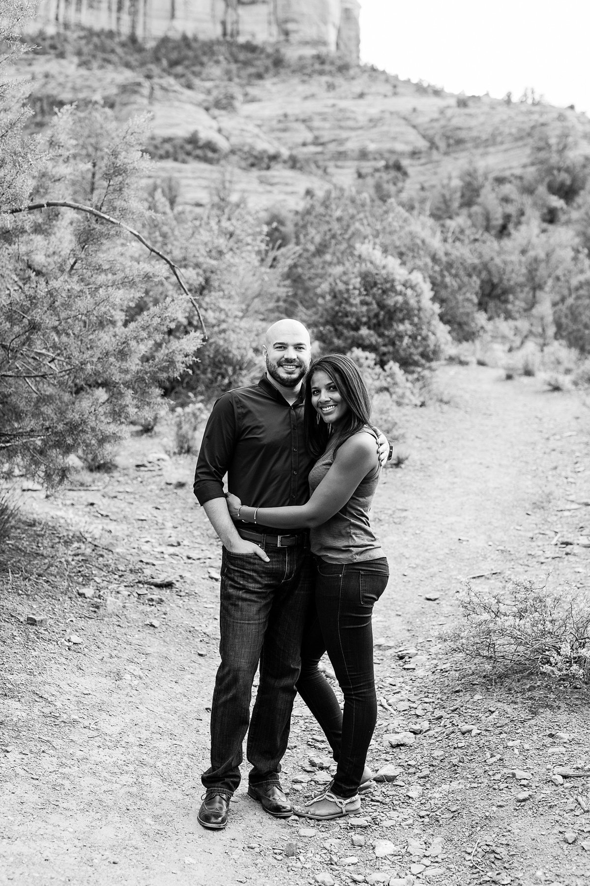 Monica + Austin - Sedona Engagement Session - Cathedral Rock - Lunabear Studios_0177