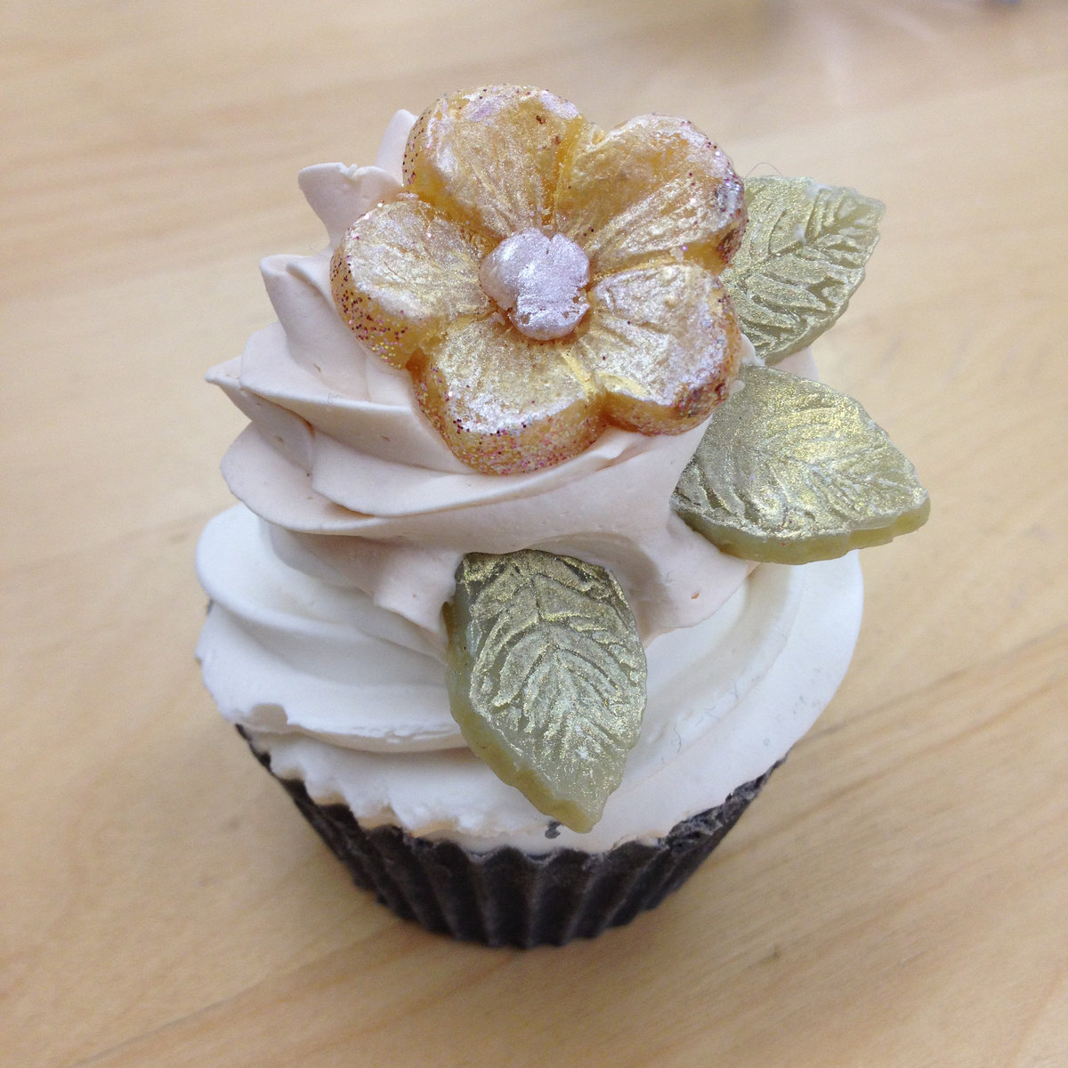 cp cupcake soap with flower
