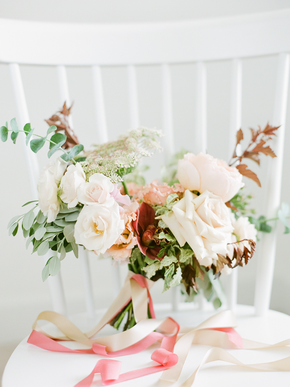 Burgundy and Blush Wedding Inspiration Styled Shoot by Kelly Sweet Photography Pink Ribbon