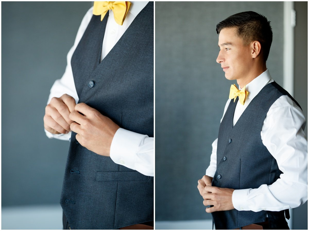 Austin wedding photographer w hotel wedding photographer groom dressing