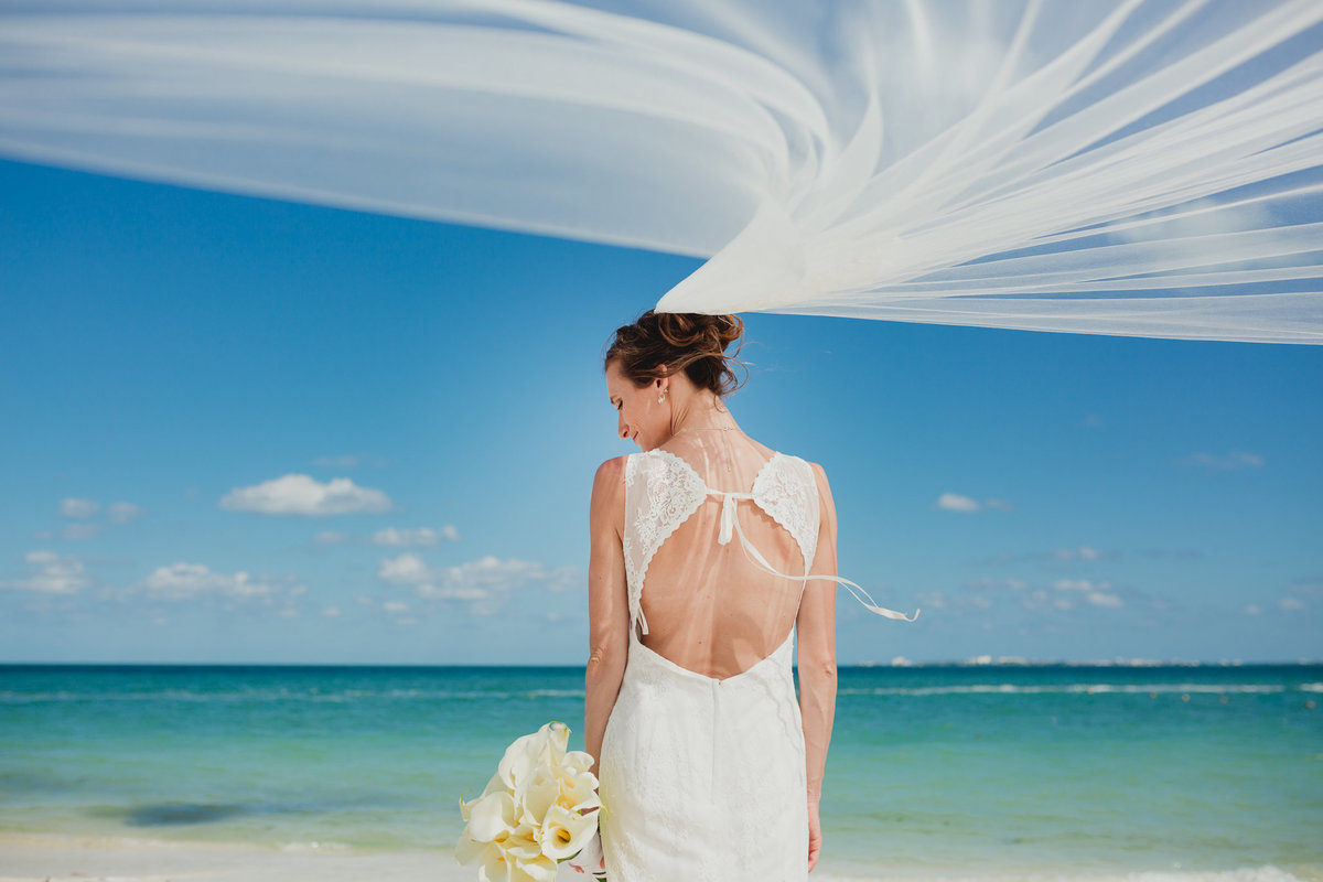 destination wedding, beach wedding, caribbean wedding, bride