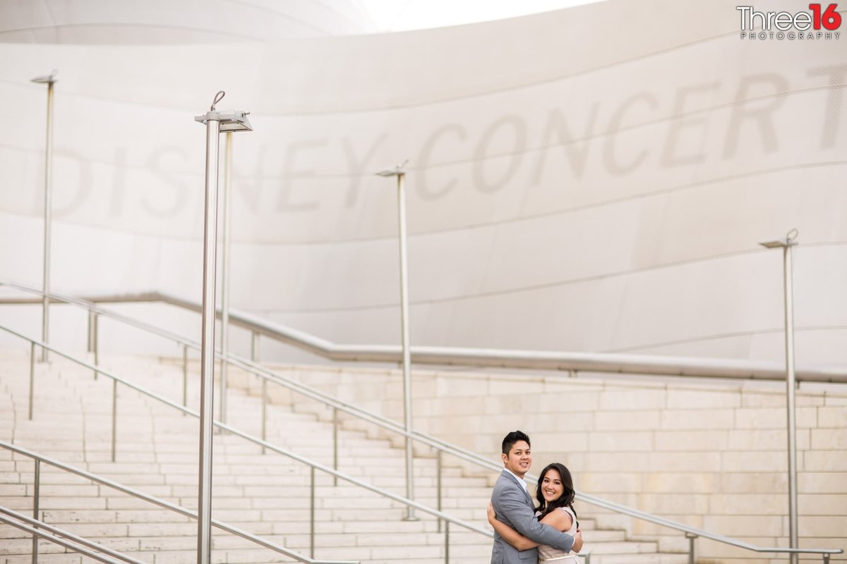 Walt Disney Concert Hall Engagement Photos Los Angeles County Weddings