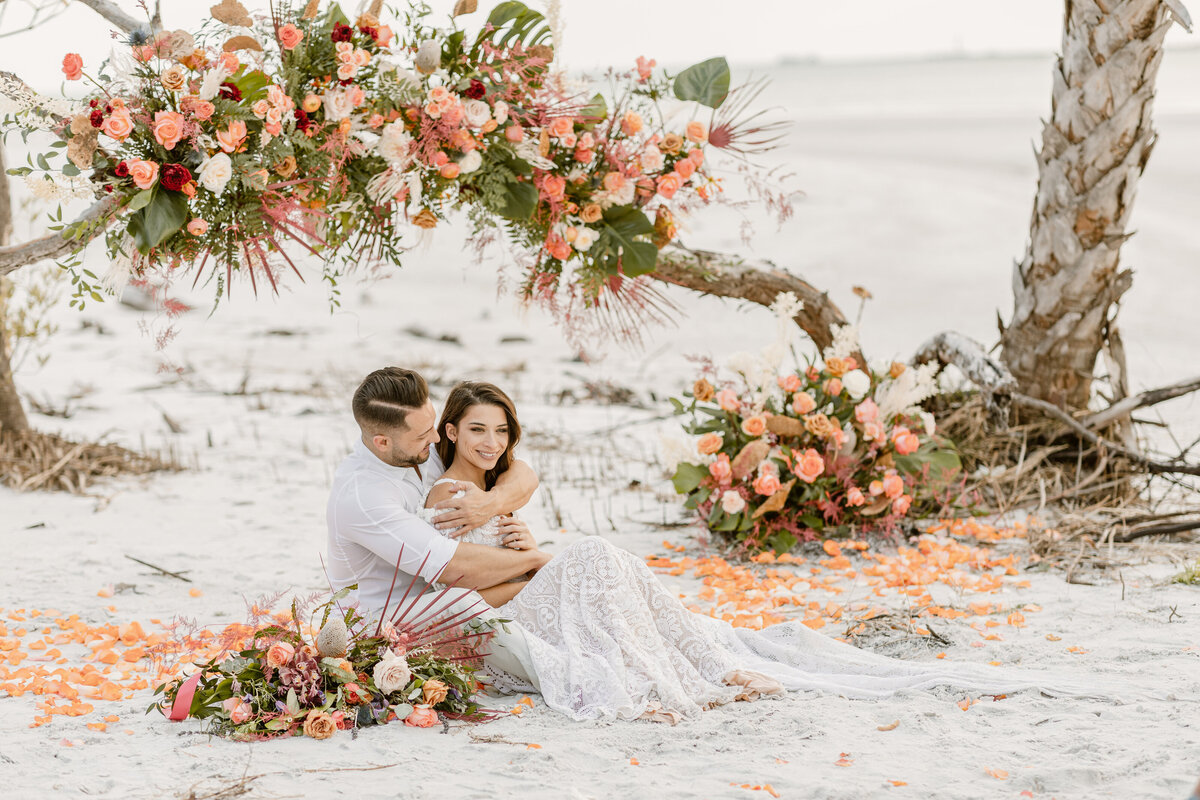 Beach Elopement in Saint Petersburg, Florida 19