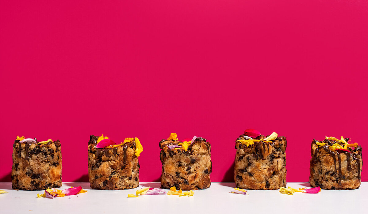 los angeles photographer vegan bread pudding