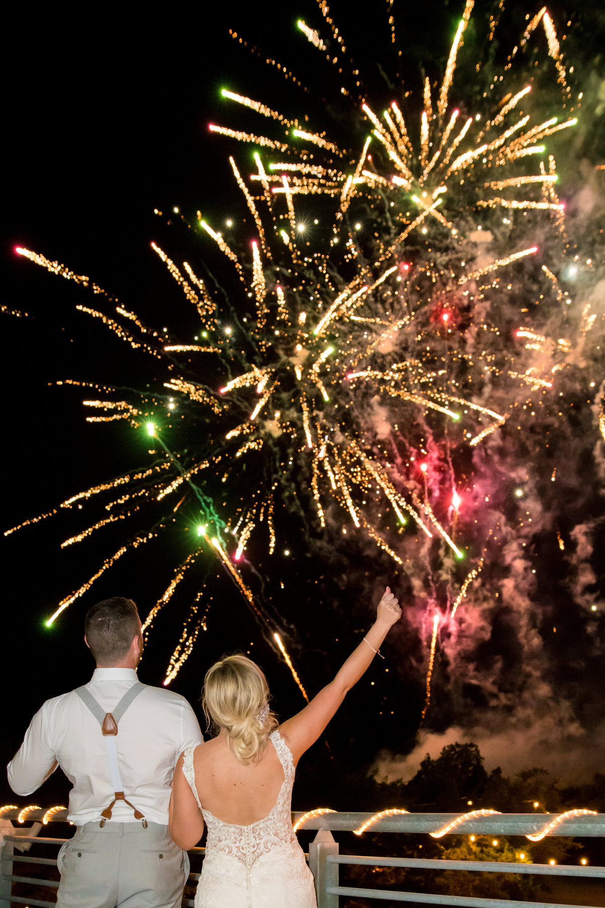 terrace club wedding photographer firework show big dog fireworks Dripping Springs, TX