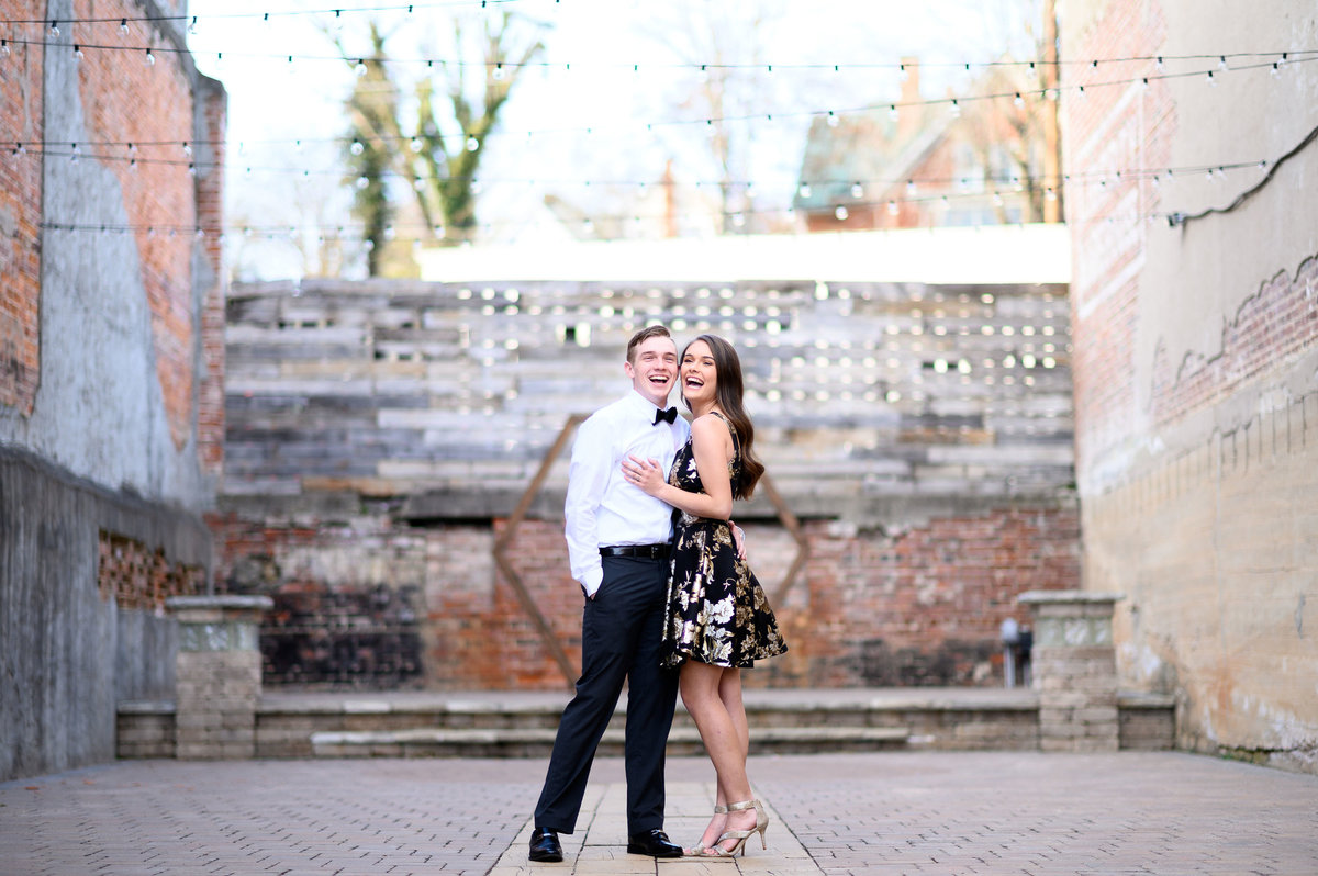 engaged-couple-laughing-coley-hall