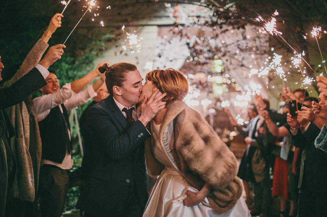 Kyle Gallner kisses his wife Tara after their wedding in Oxnard, Ca.