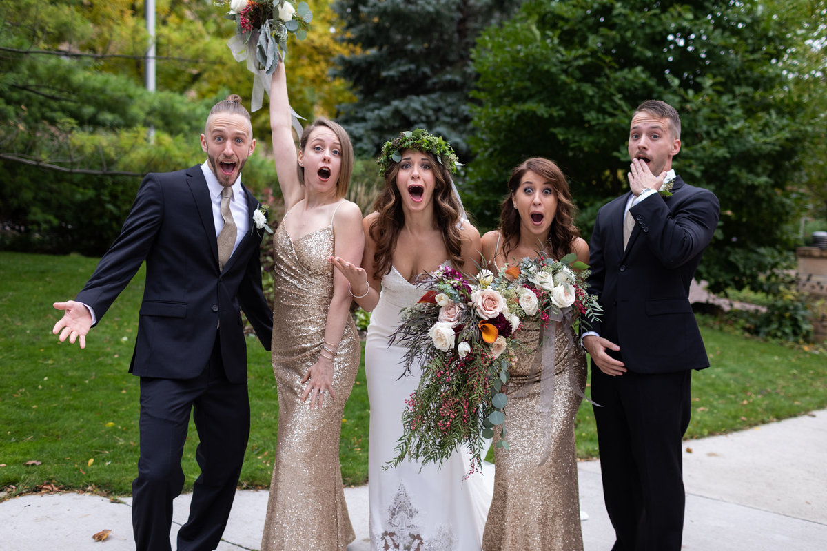 Funny wedding poses are the most entertaining part of our day as wedding photographers