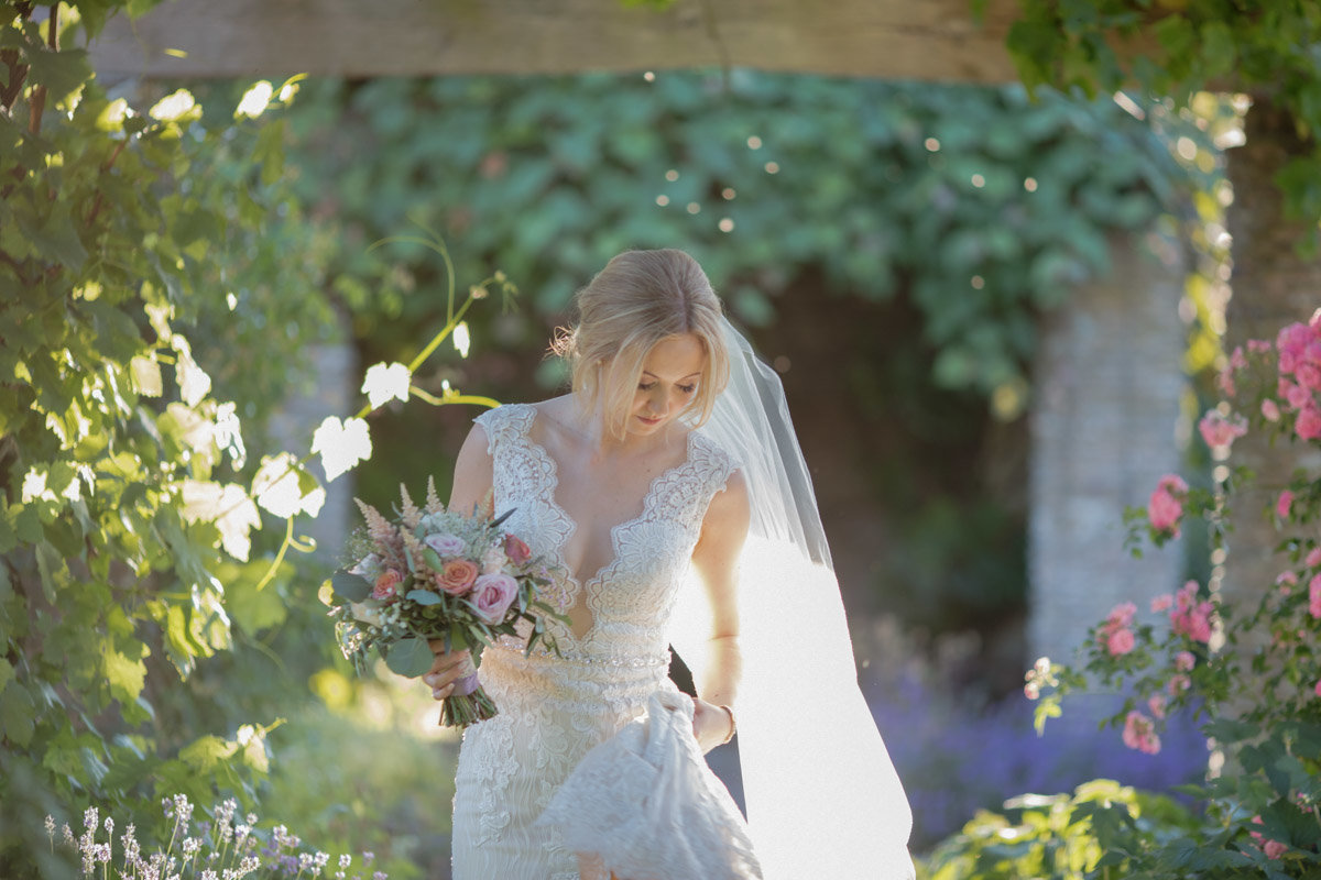 Bridal portrait at Hestercombe Gardens wedding photo