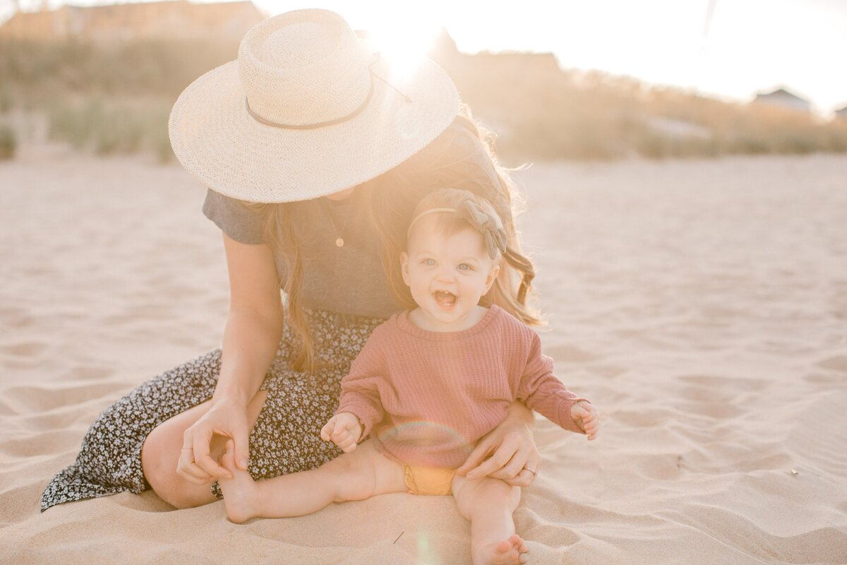 I&S 10 Month Old Baby Boho Mother Daughter Photos Norfolk VA East Beach Tianna Yentzer Photography-35
