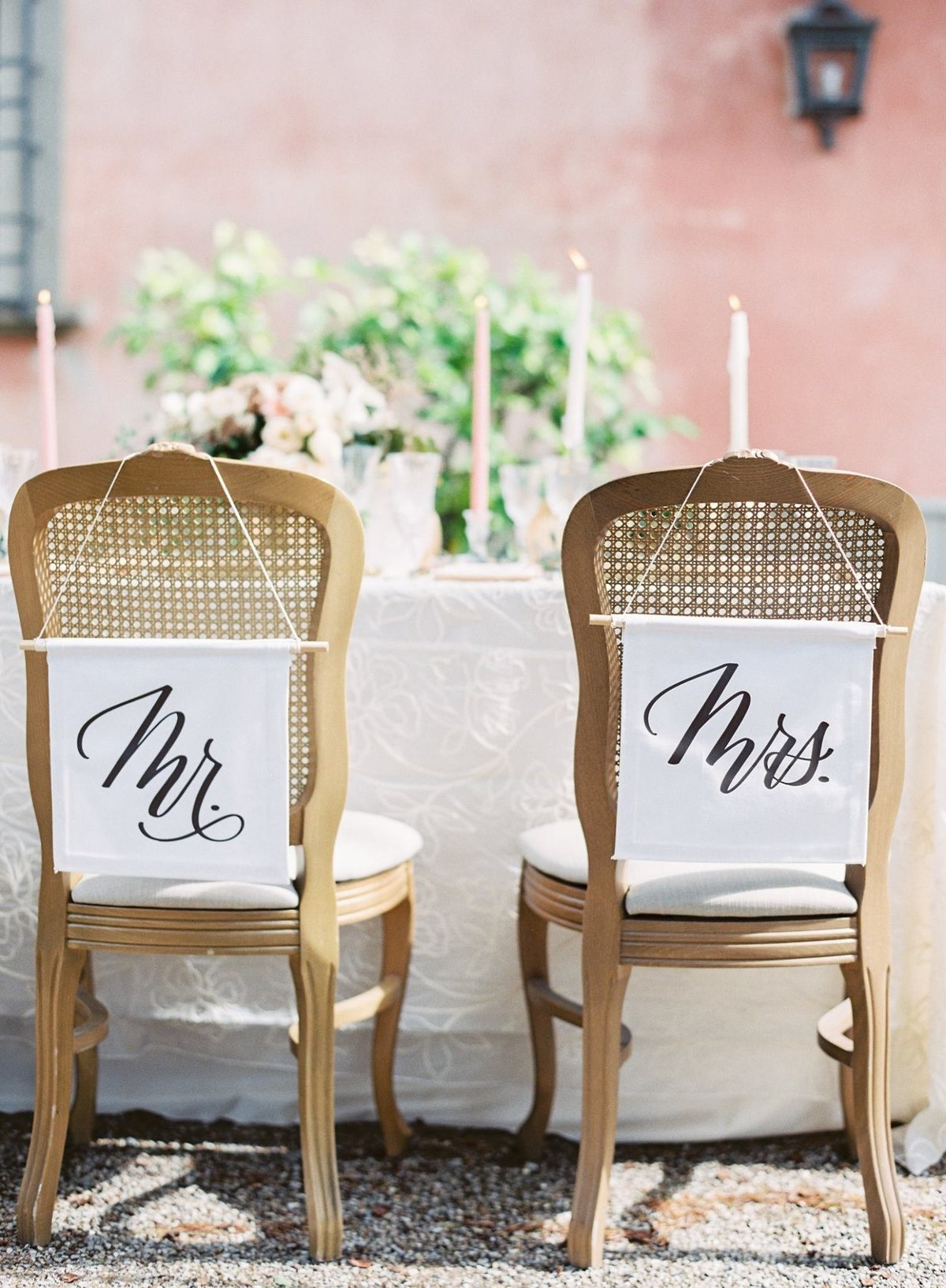 Modern Mr and Mrs Signs in Tuscany