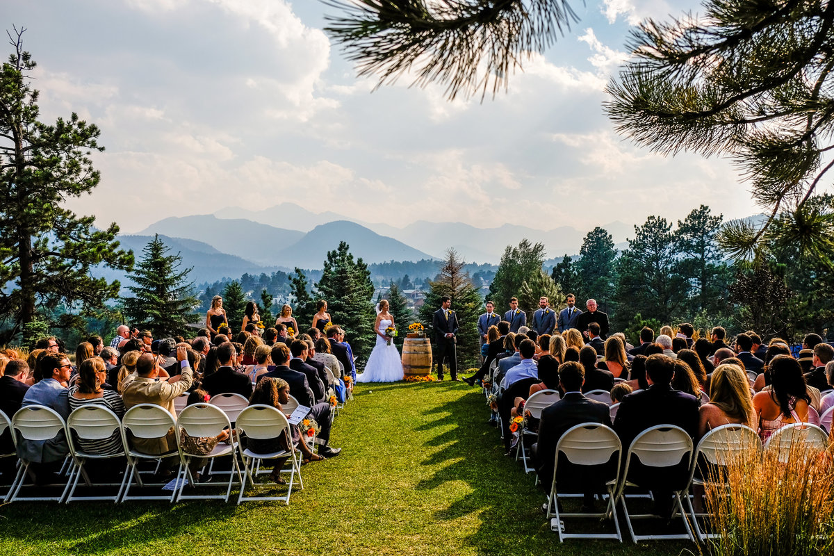 wedding ceremony in estes park photographer