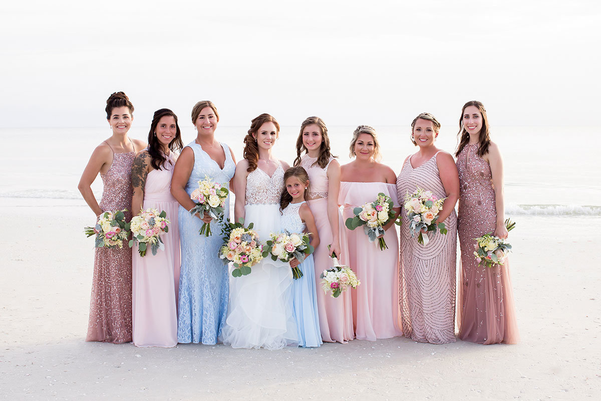 marco beach ocean resort beach wedding bridesmaids photo