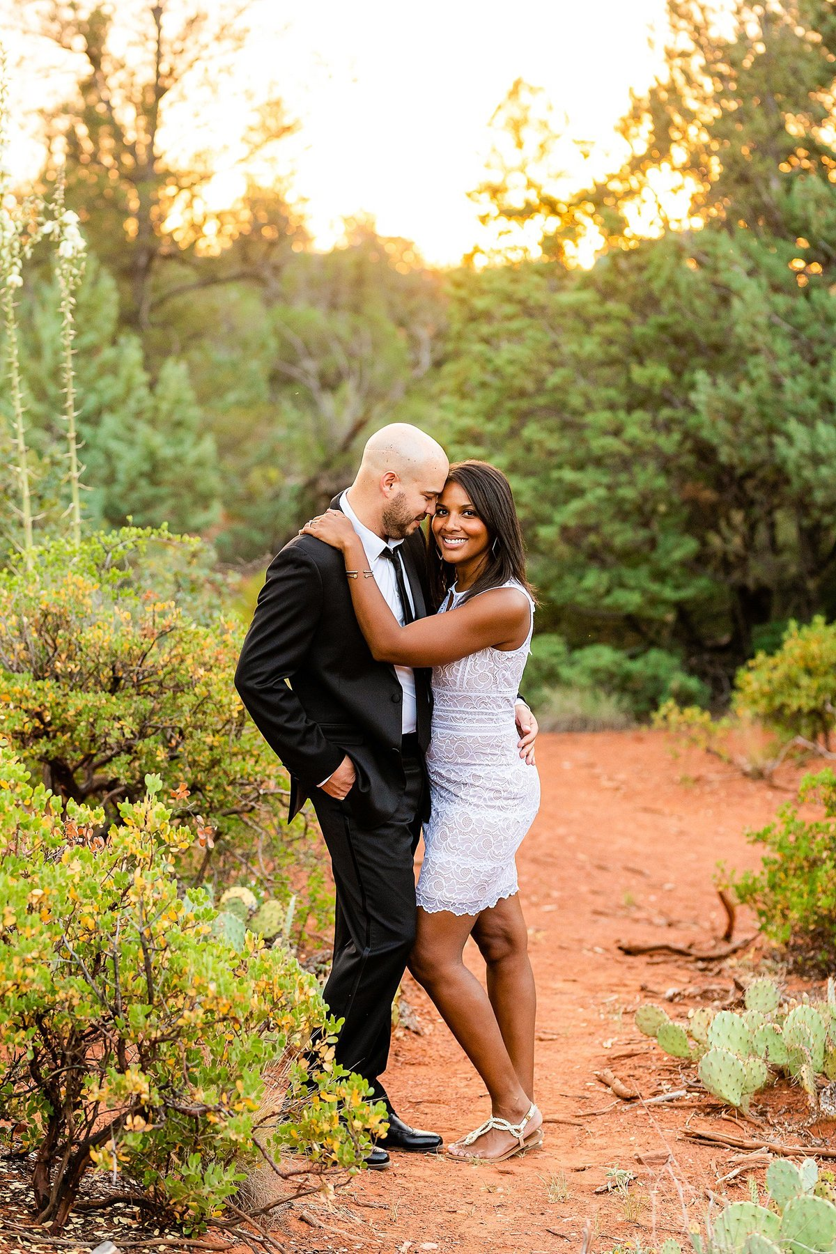 Monica + Austin - Sedona Engagement Session - Cathedral Rock - Lunabear Studios_0202