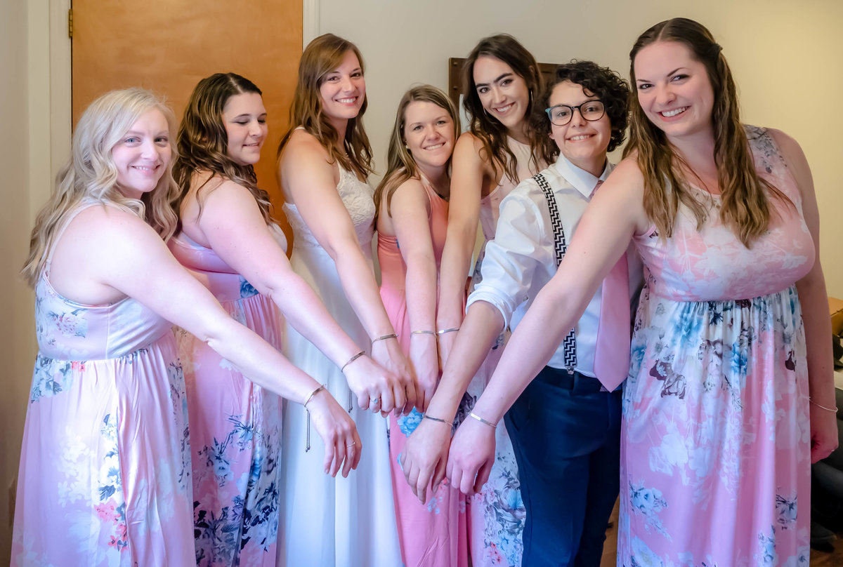 Blowing Rock Wedding Photography - Rhiannon and Chris - Bridal Party Matching Bracelets - Wilmington NC Photographer Team