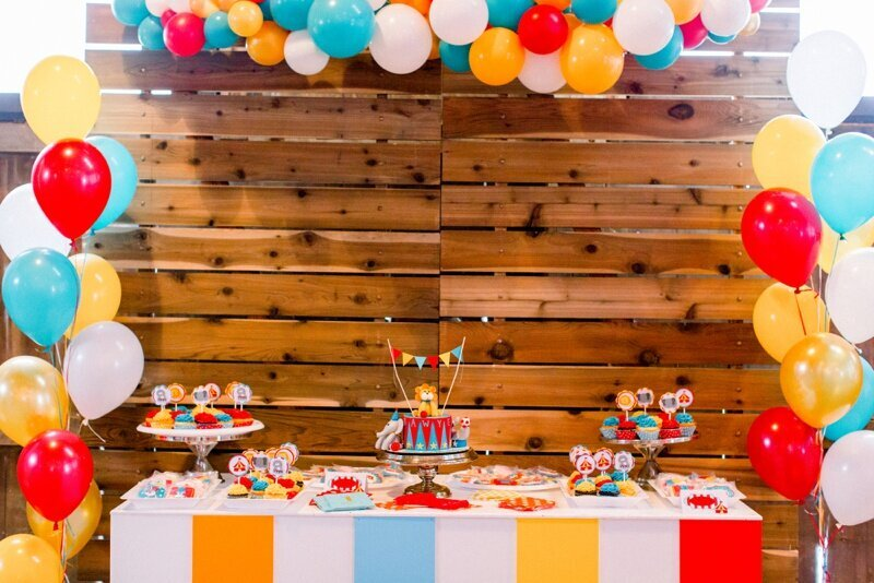 Circus Themed 1st Birthday Indianapolis Party Planner_0064