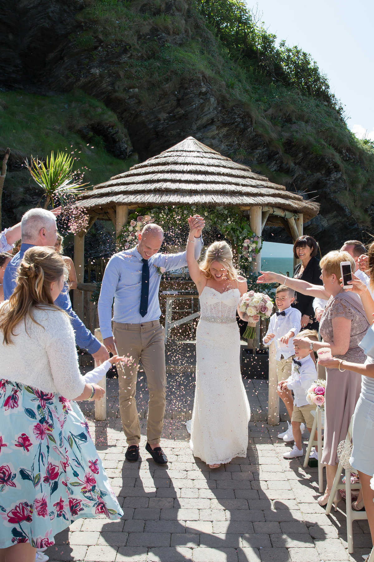 confetti at wedding in devon wed magazine