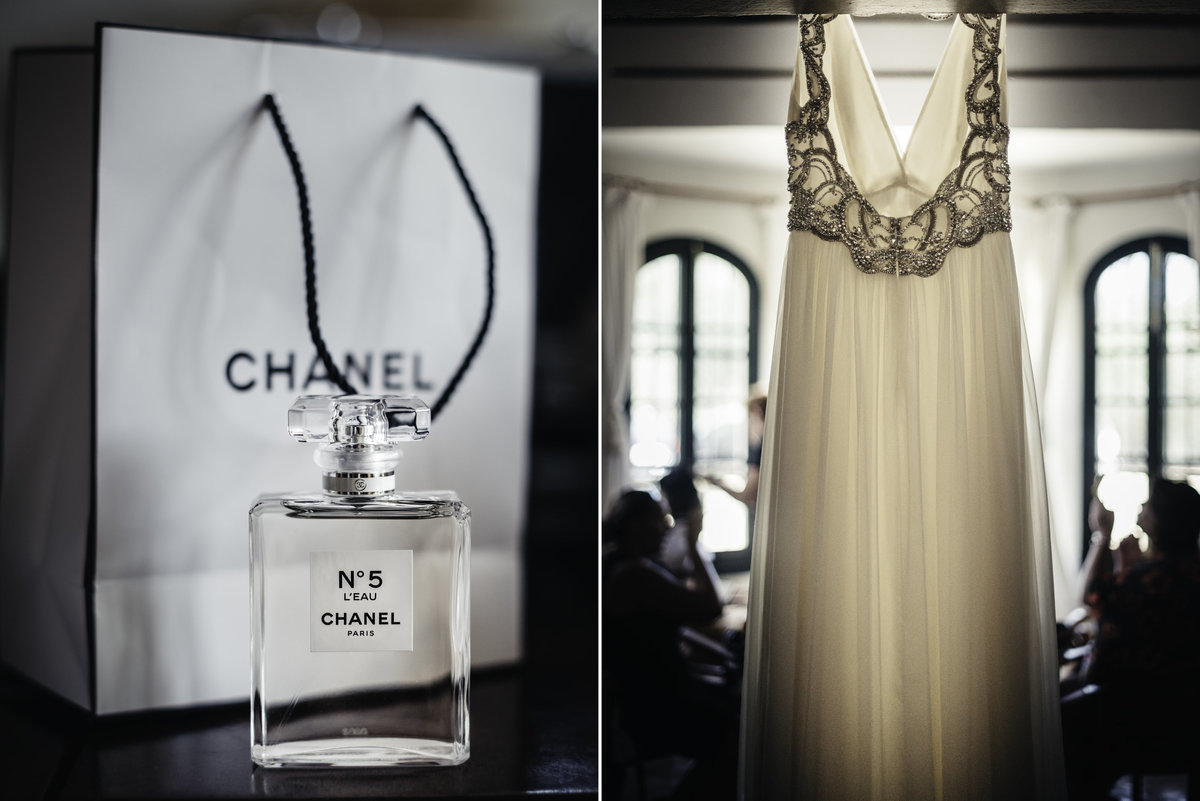 Jenny Packham stunning wedding dress and channel perfume what more could a groom want from his beautiful bride