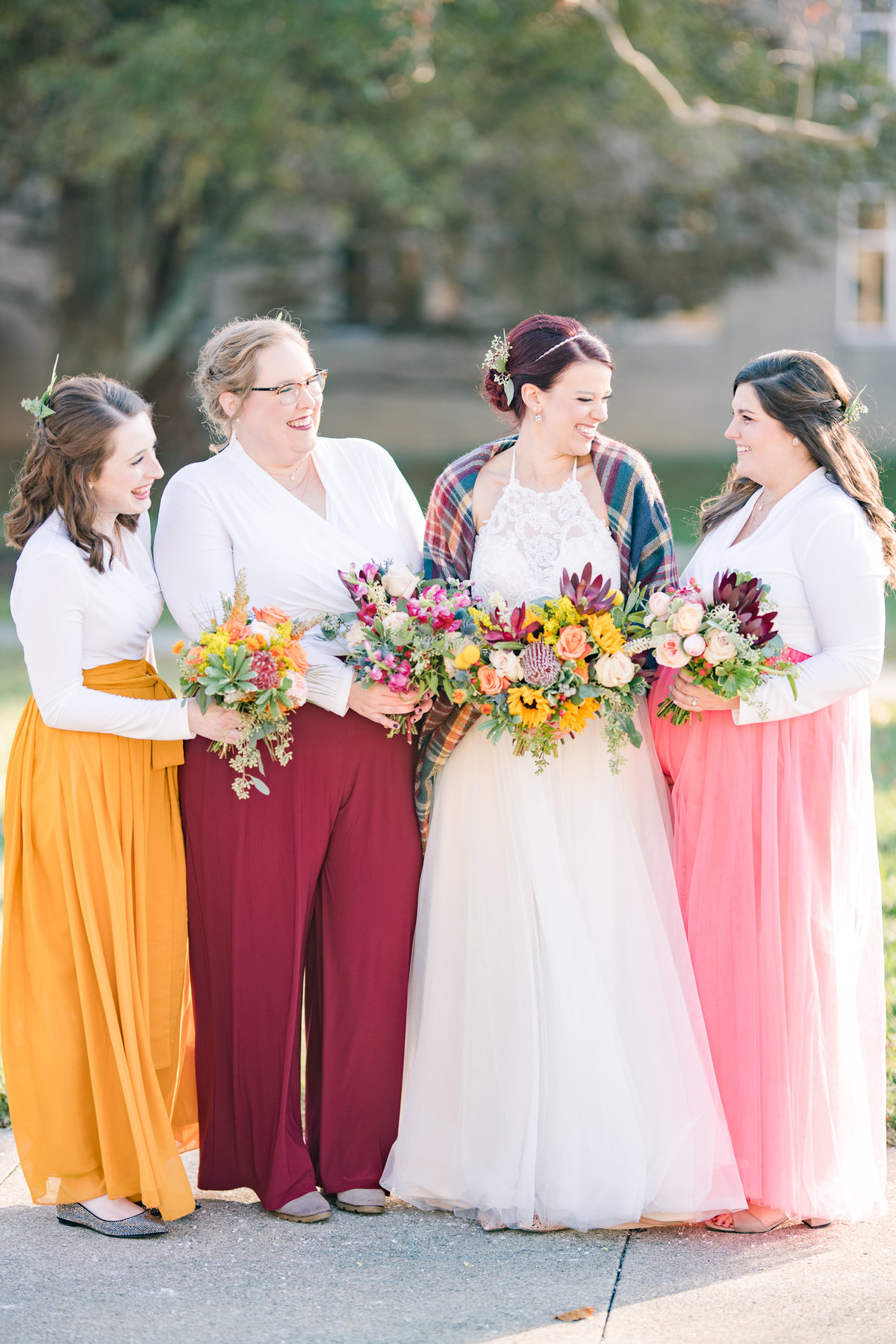 Urban Artifact Brewery Colorful Fall Wedding-107