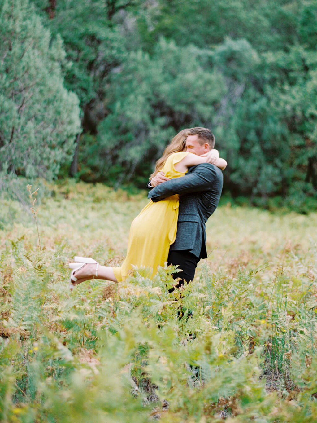 Aubrey & Joey Sedona West Fork Trail Fall Fine Art Engagement Session Ball Photo Co-12