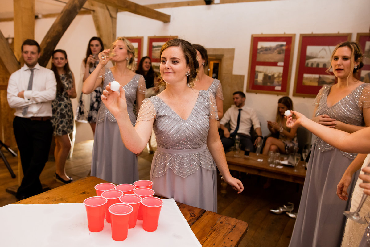 beer pong wedding