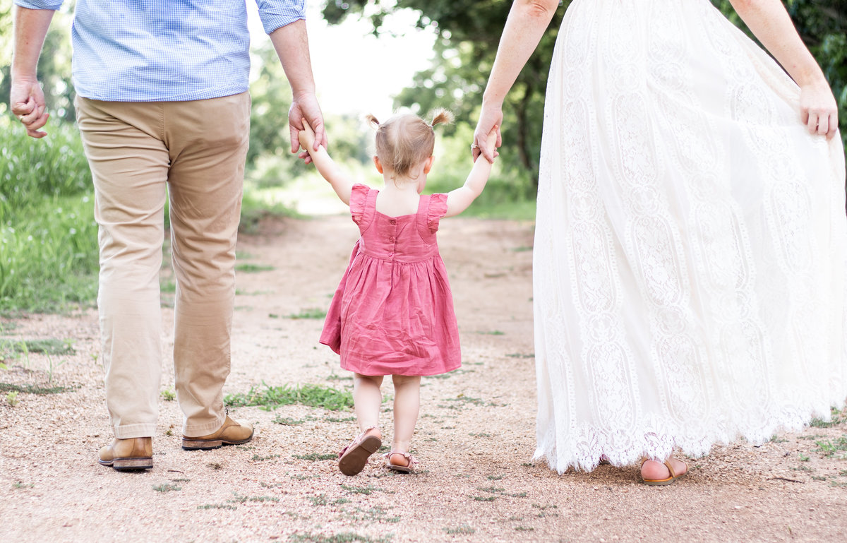 Katy Texas Family Photography | family walking hand in hand