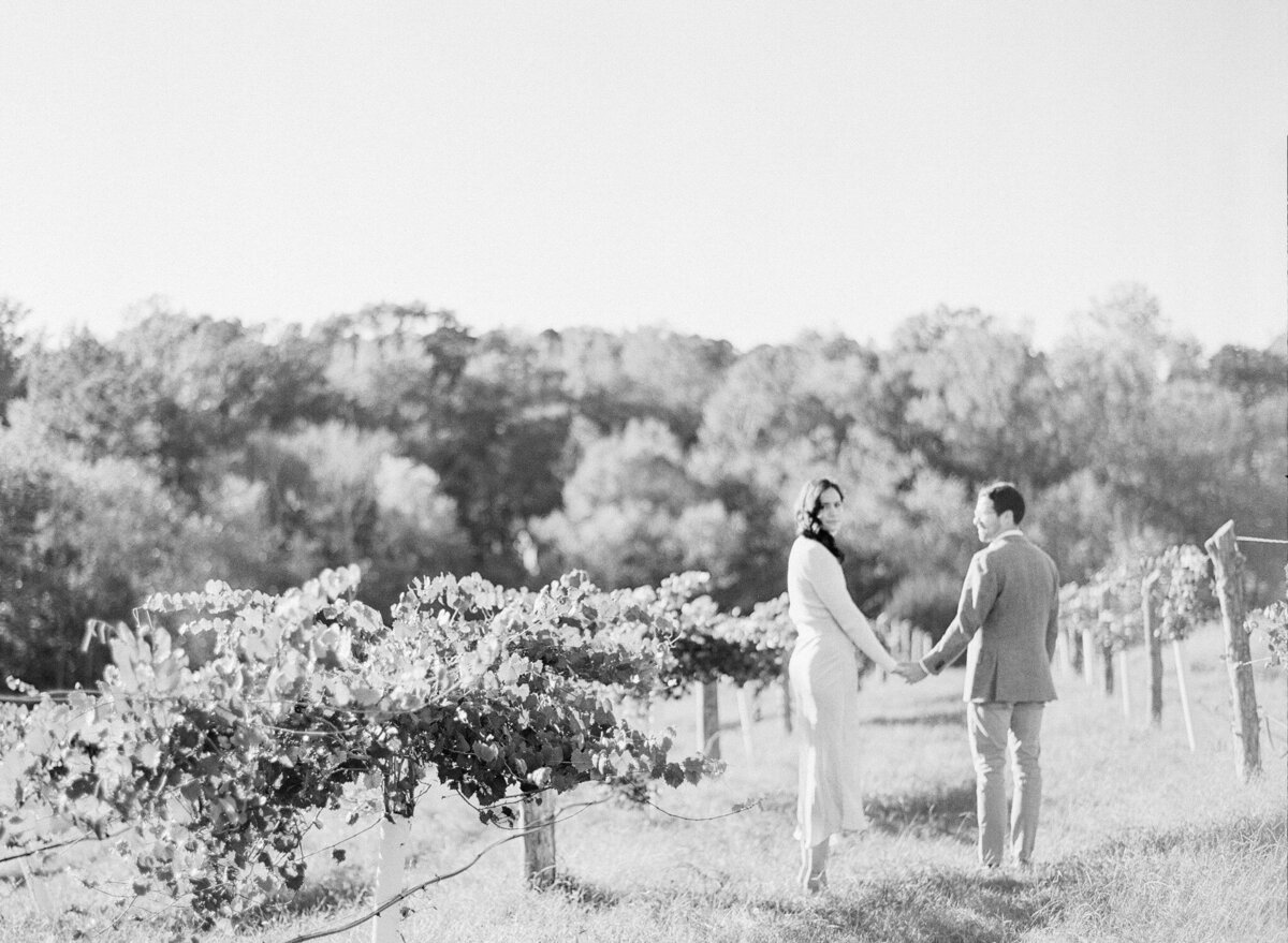 French Vineyard Engagement Photography at The Meadows in Raleigh, NC 5
