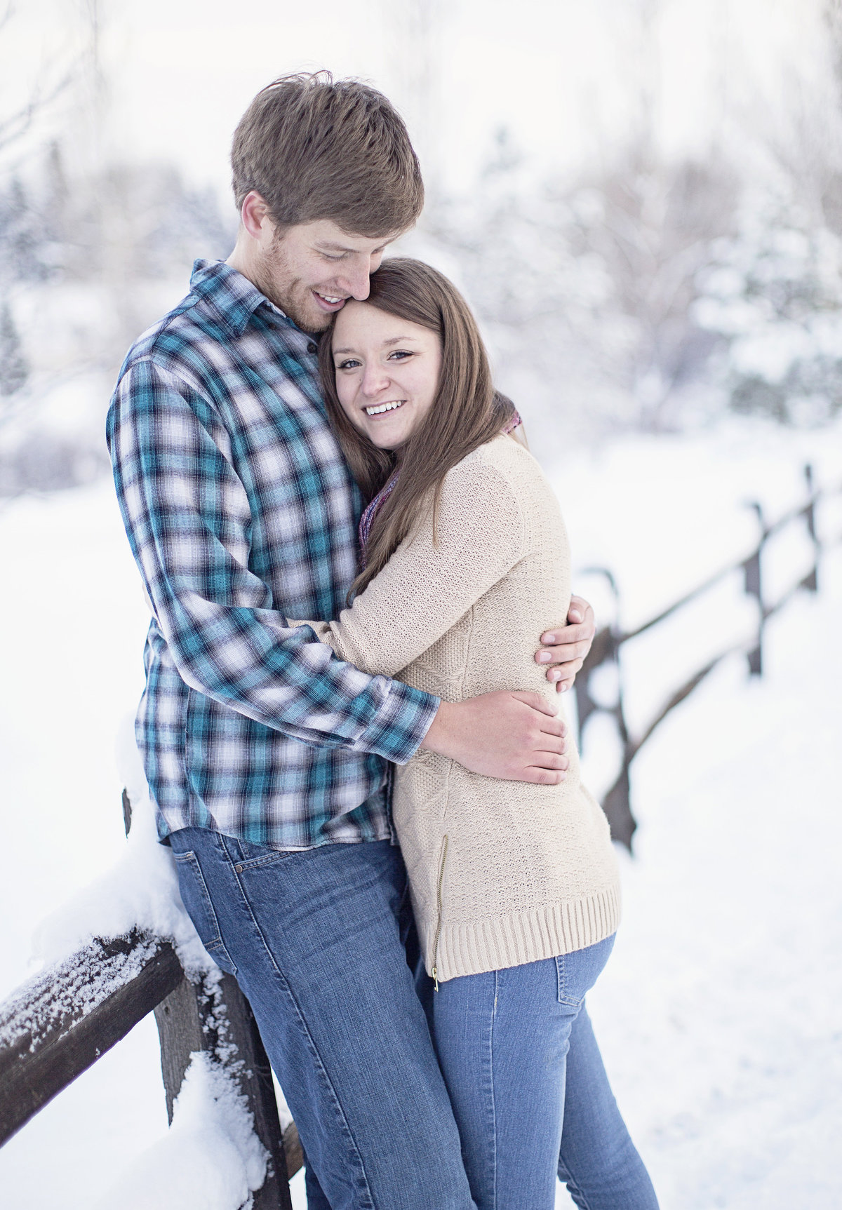 engaged couple winter engagement photos