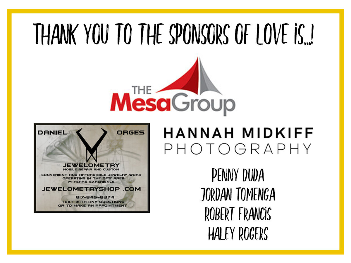 Thank you Love Is Sponsors