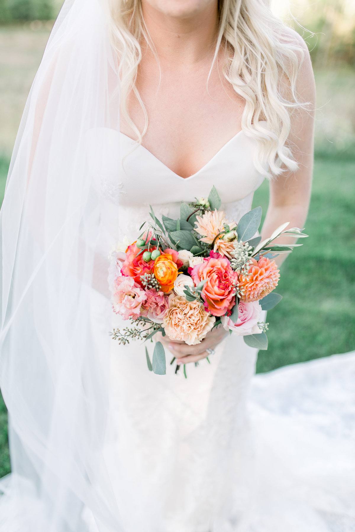 Northern Michigan wedding photographer, Cynthia Boyle, captured Jen's fall inspired bridal bouquet