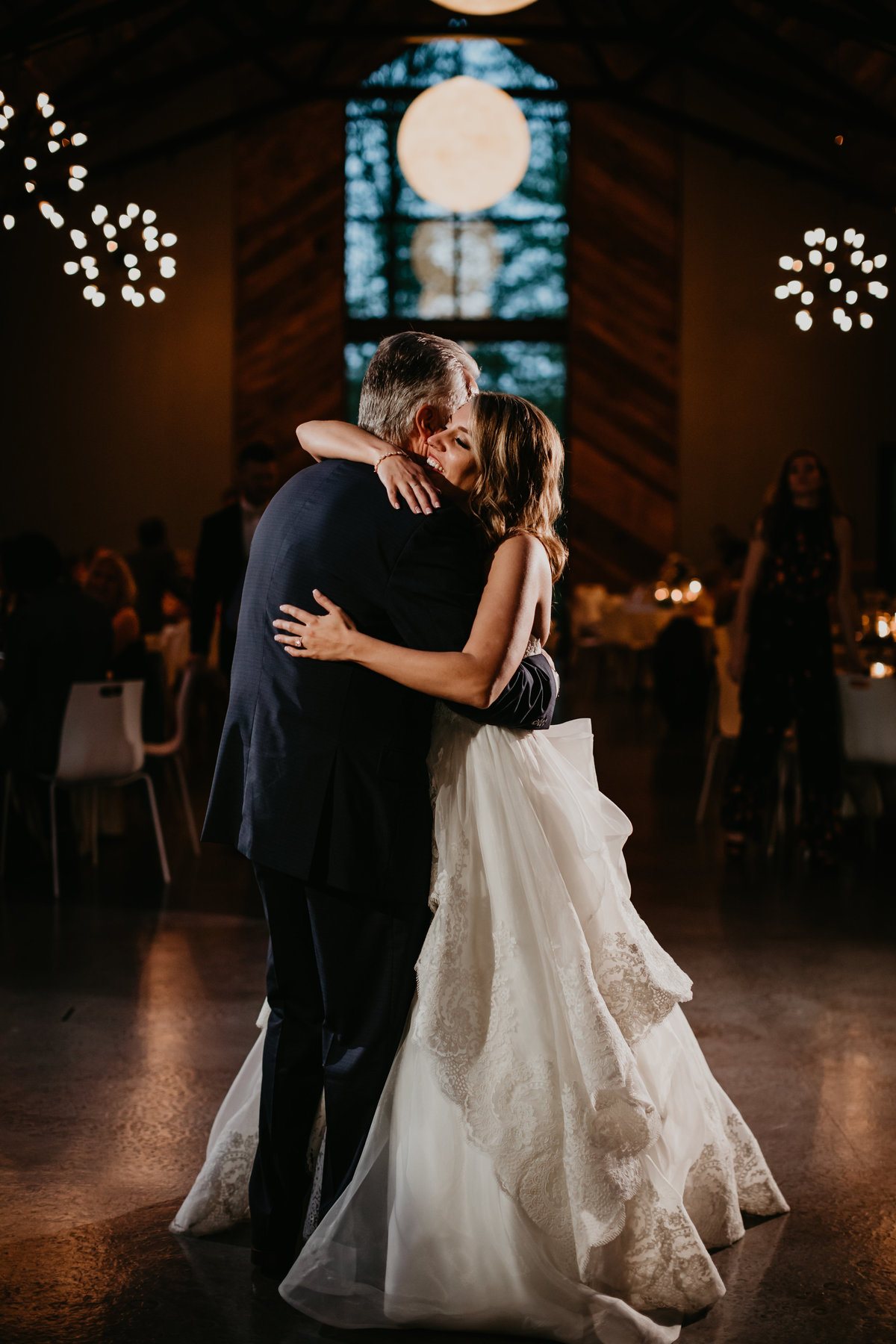 Emotional Father Daughter dance at Sapphire Creek Winery in Chagrin Falls Ohio