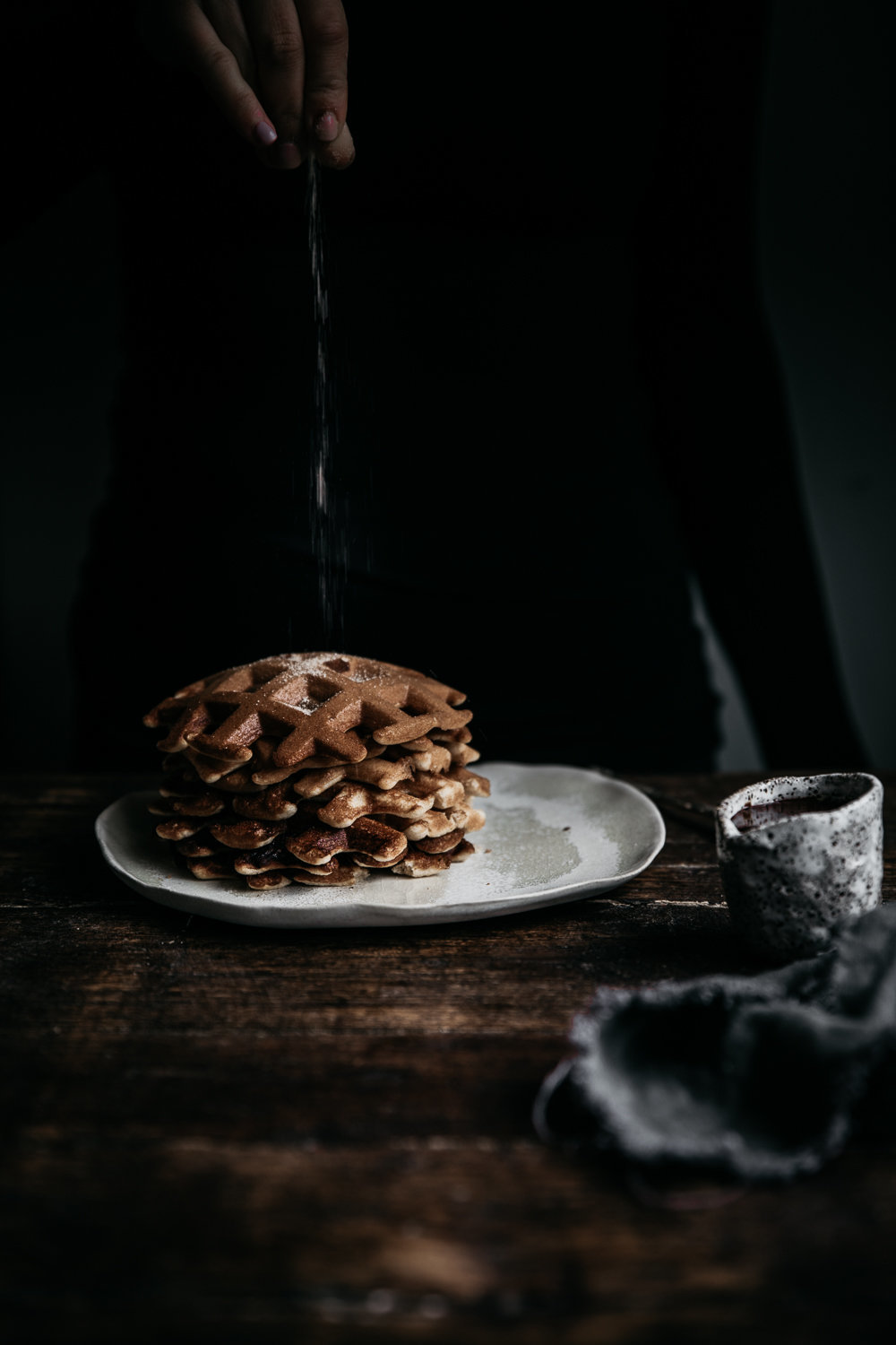 Churros Waffles with Nutella Fudge | Anisa Sabet | The Macadames-321