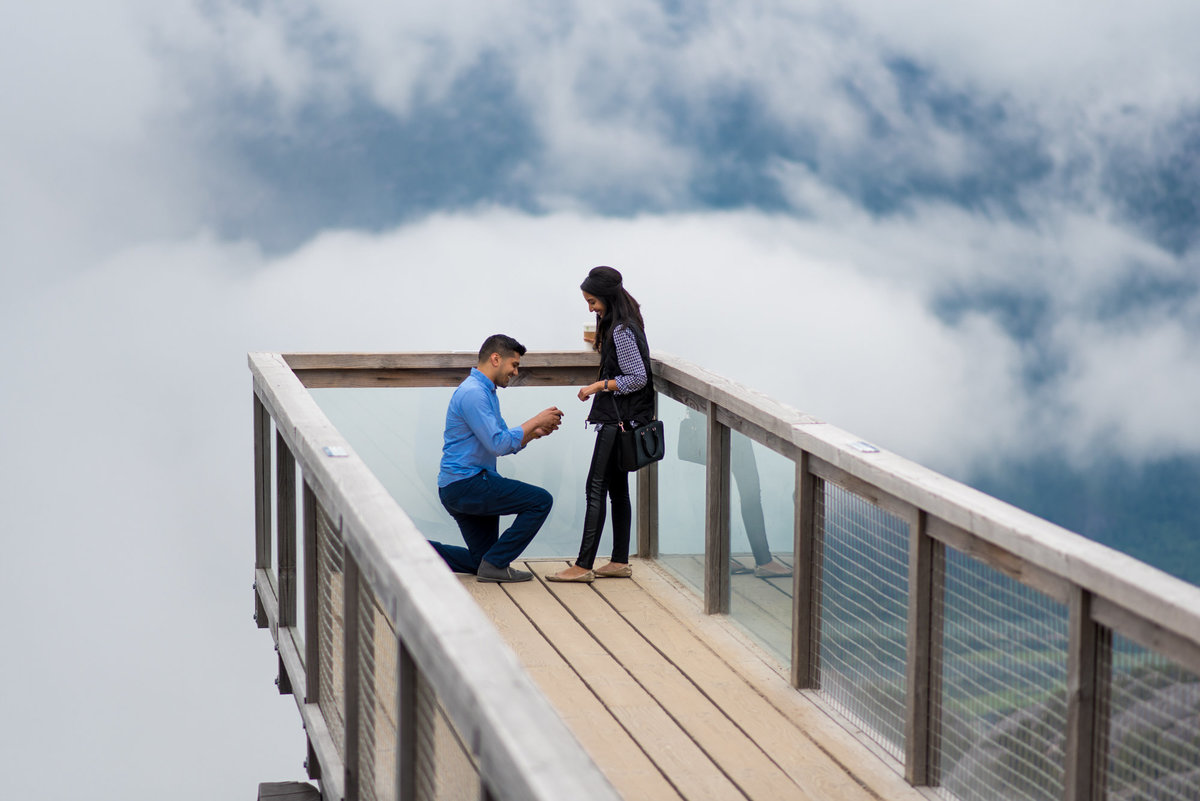 Sea to Sky proposal with a foggy backdrop