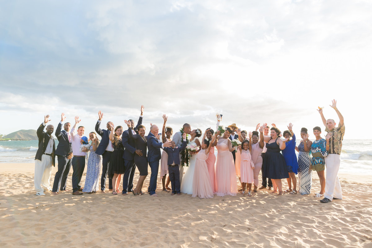 Wedding party in Maui, Hawaii