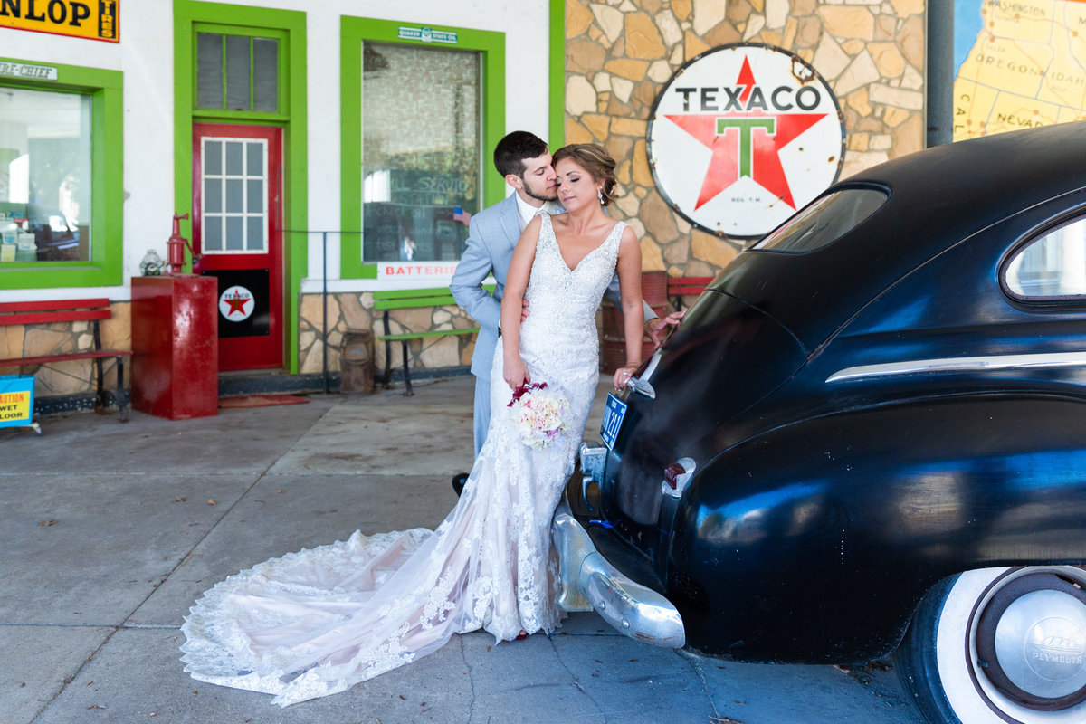 Texaco station in Decorah Iowa on a wedding day