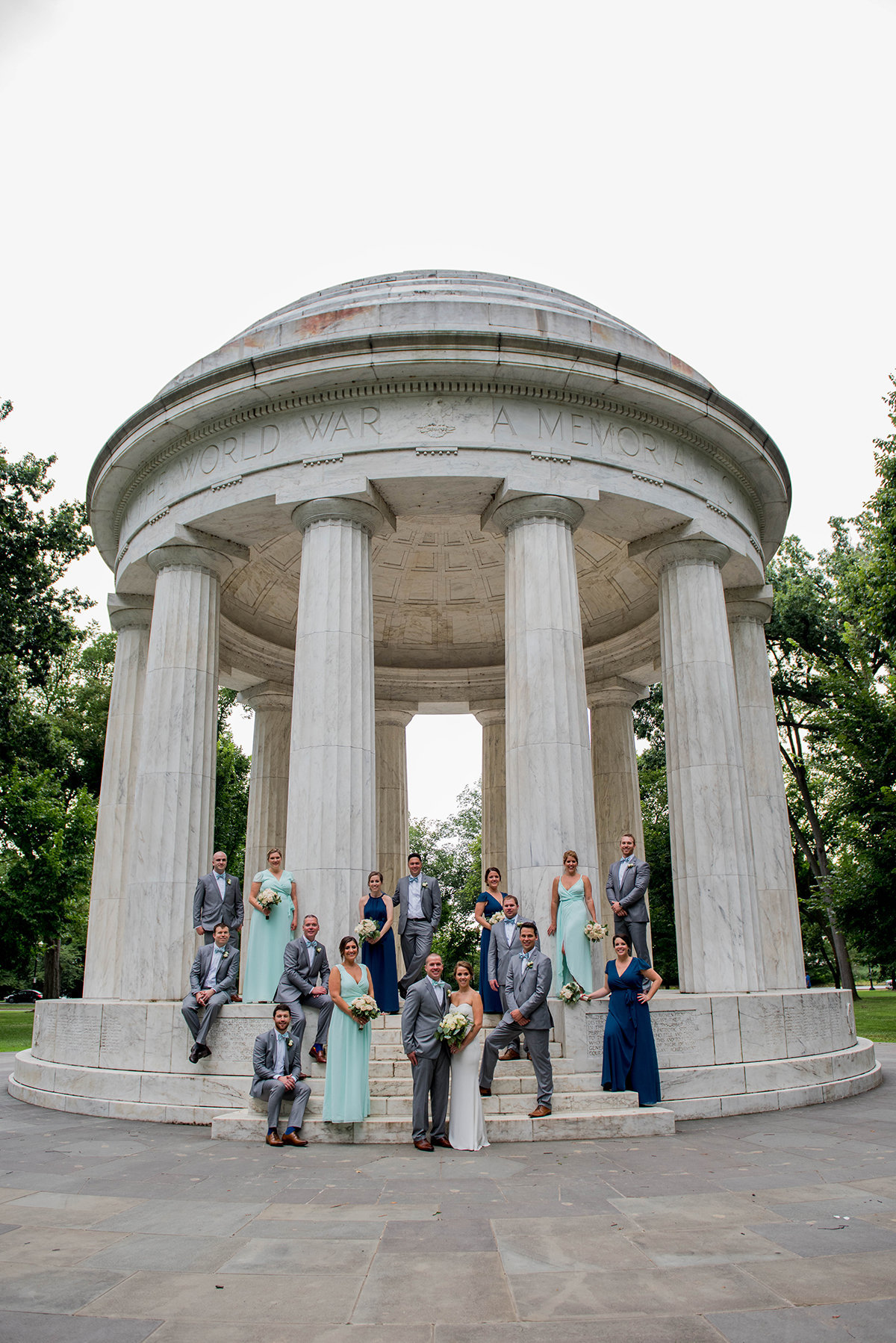 DC War Memorial Wedding by Washington Dc Wedding Photographer, Erin Tetterton Photography