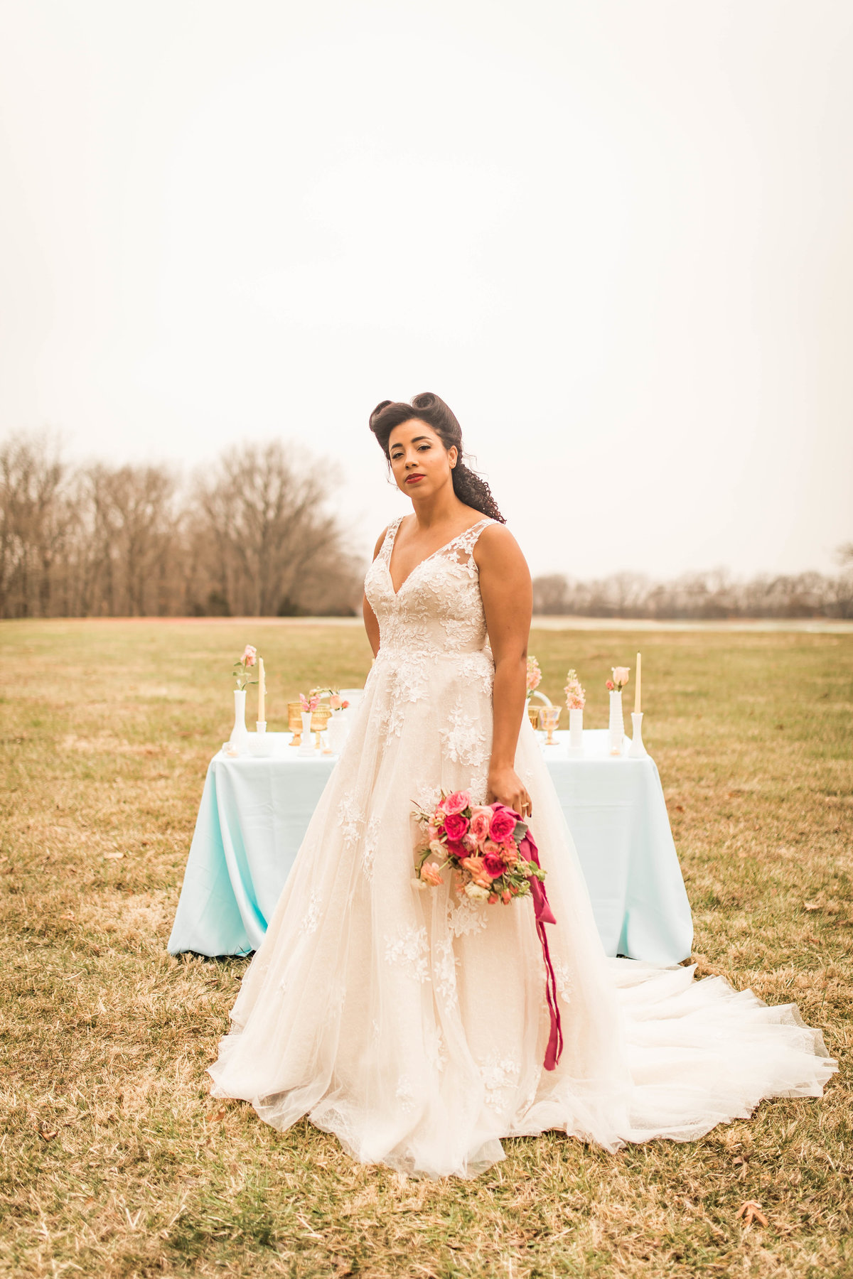 Retro Styled Shoot - Sophia and Andrew - St Louis Wedding Photographer - Allison Slater Photography 112