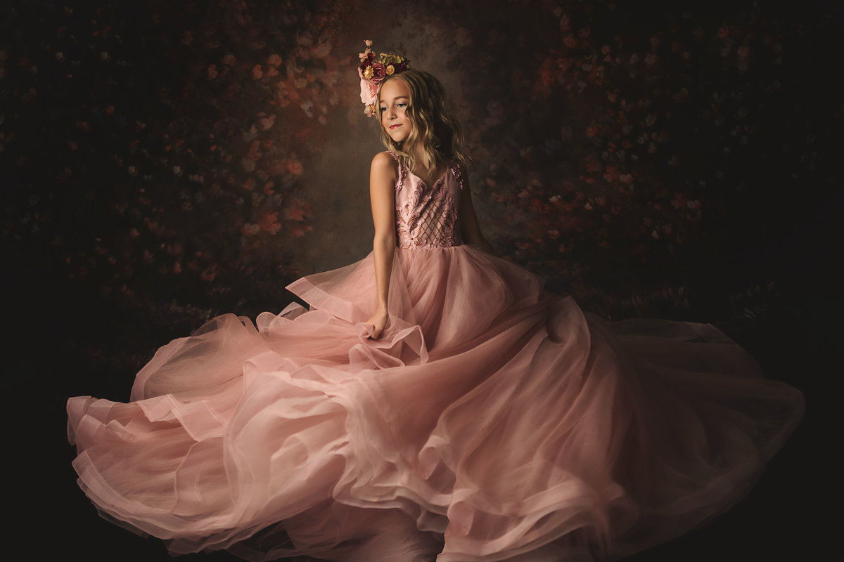Girl-Pink Gown-Fine Art- Dallas