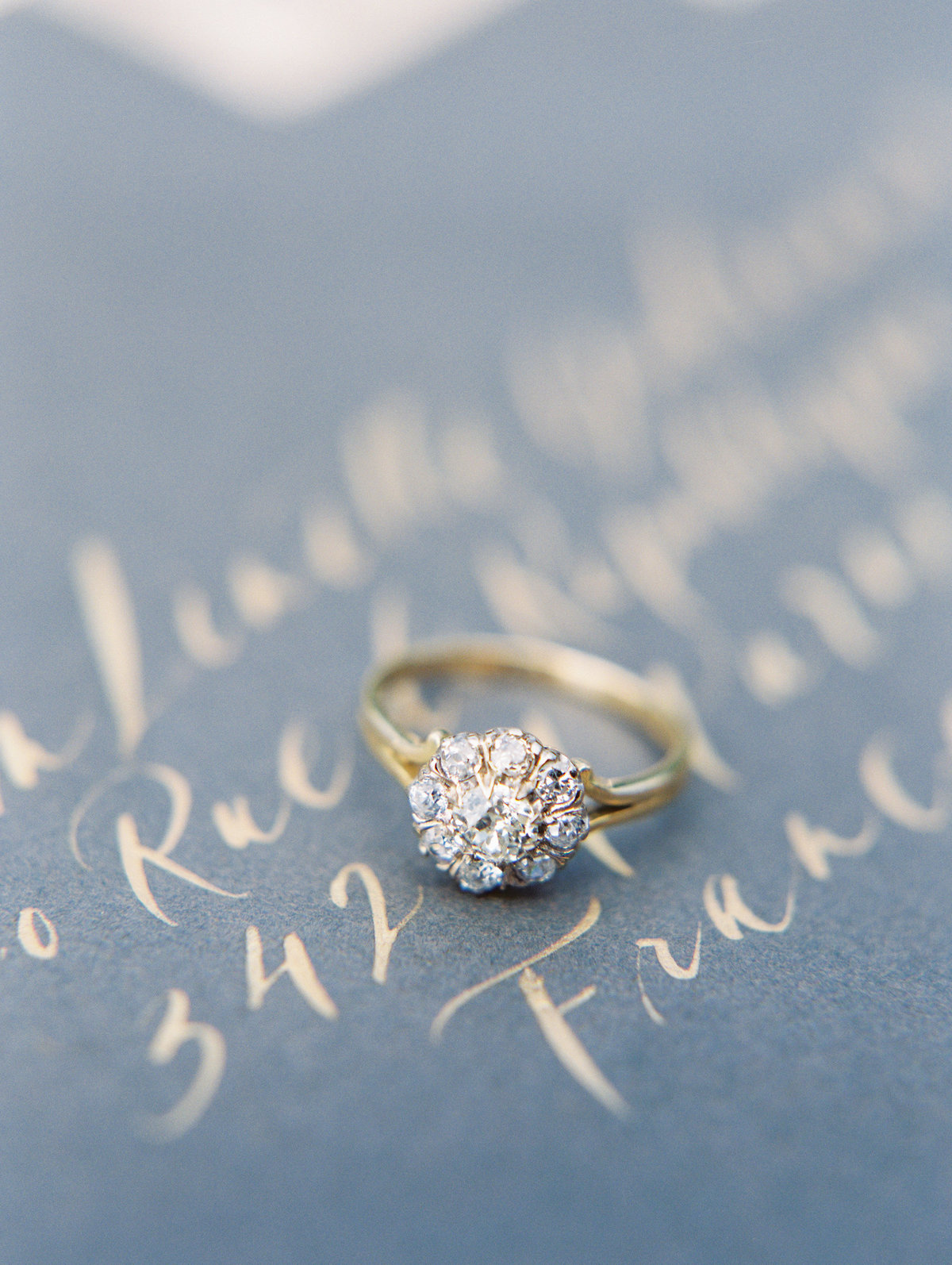 vintage engagement ring from trumpet & horn