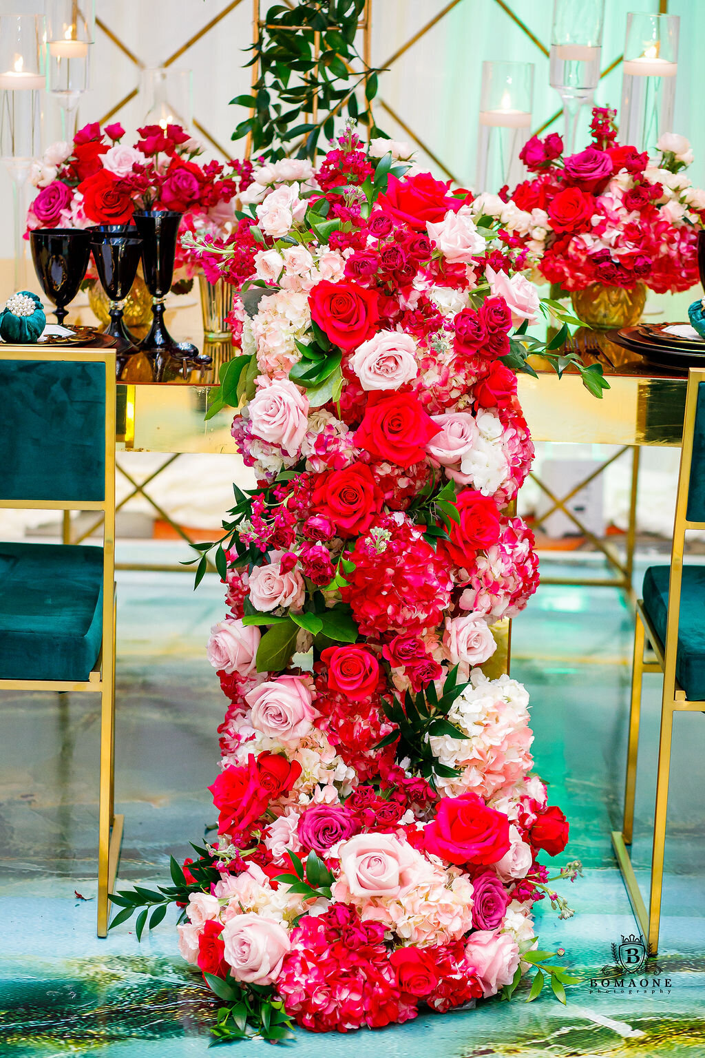 Touch of Jewel Events, Dallas Wedding Planner, Texas Wedding Planner, Luxury Wedding Planner Dallas, Emerald green and Black wedding, Westin Dallas Downto (16)