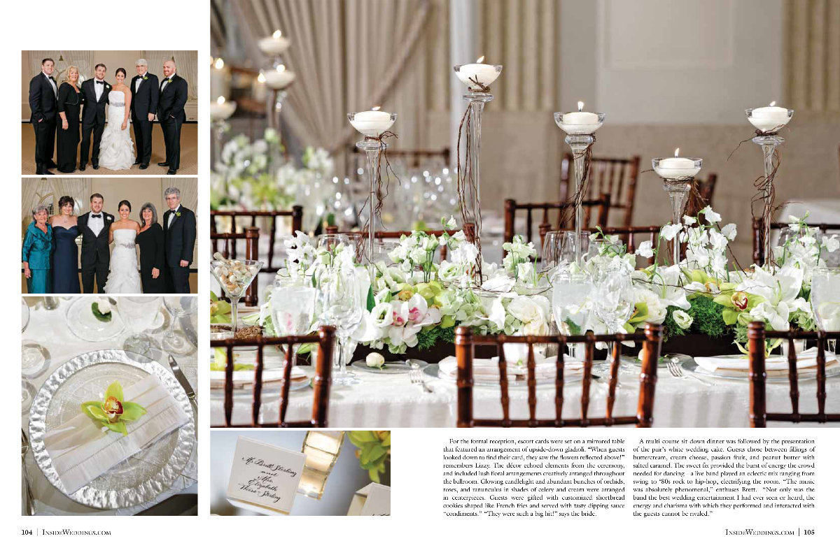 Ahhhhh!!!! So excited to see another one of our weddings in the Winter 2013 edition of Inside Weddings. Lizzy & Brett were happy to hear the news and we were thrilled for them. Their wedding was at one of my favorite venues in Chicago, The Standard Club, and was designed by Randy Schuster, their fabulous Event Planner. Thank you Walt, Art and Marilyn at Inside Weddings for selecting our wedding. It's such an honor to be featured in a magazine that is so wildly respected. Click here for a list of vendors.