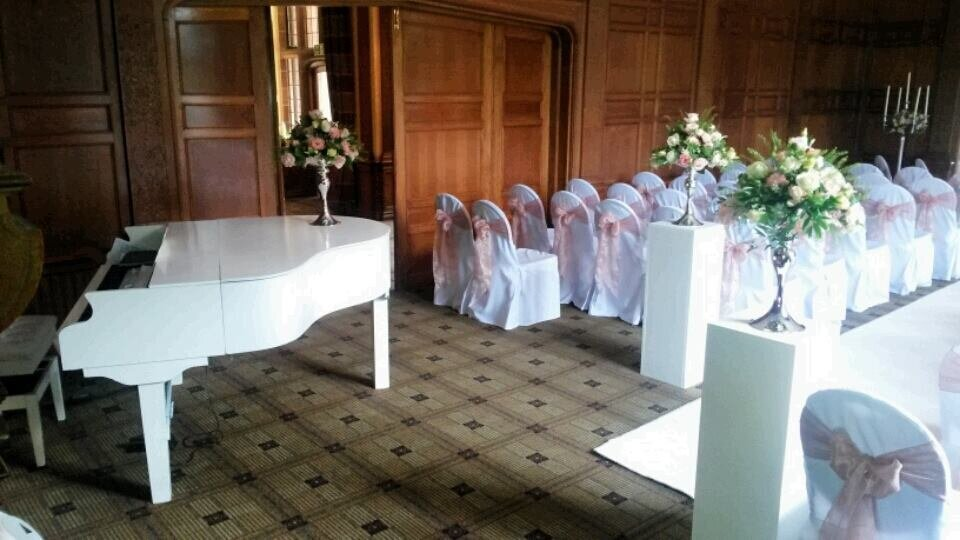 wedding pianist white baby grand piano inglewood manor wirral